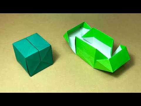 Origami Gift Box with one piece of paper