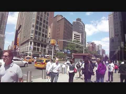 Columbus Circle/Taxi Through SoHo