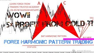 Buy Setup For Gold|| Harmonic Bat Pattern In Gold||Forex Tuition