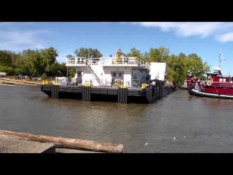 Steelways launches Snag Barge for the Corps of Engineers