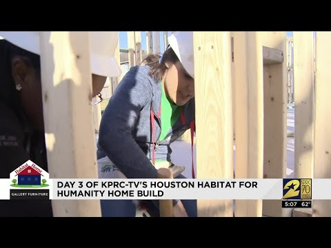 Day 3 Of KPRC-TV's Houston Habitat For Humanity Home Build