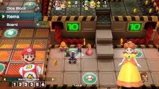 Super Mario Party Partner Party #58 Gold Rush Mine Mario & Daisy vs Luigi & Peach