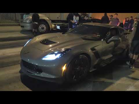 HELLCAT REDEYE VS CORVETTE ZO6 | STREET RACE FOR $4400 POT