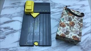 牧莎DIY Craft TV - WRM 禮物袋造型-魔法立體盒製作板使用方式 Gift Bag