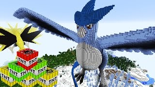 Minecraft vs Pokemon Go LEGENDARY ARTICUNO GIANT EXPLOSIONS BLOCK BOMBS! (Pokego Land)