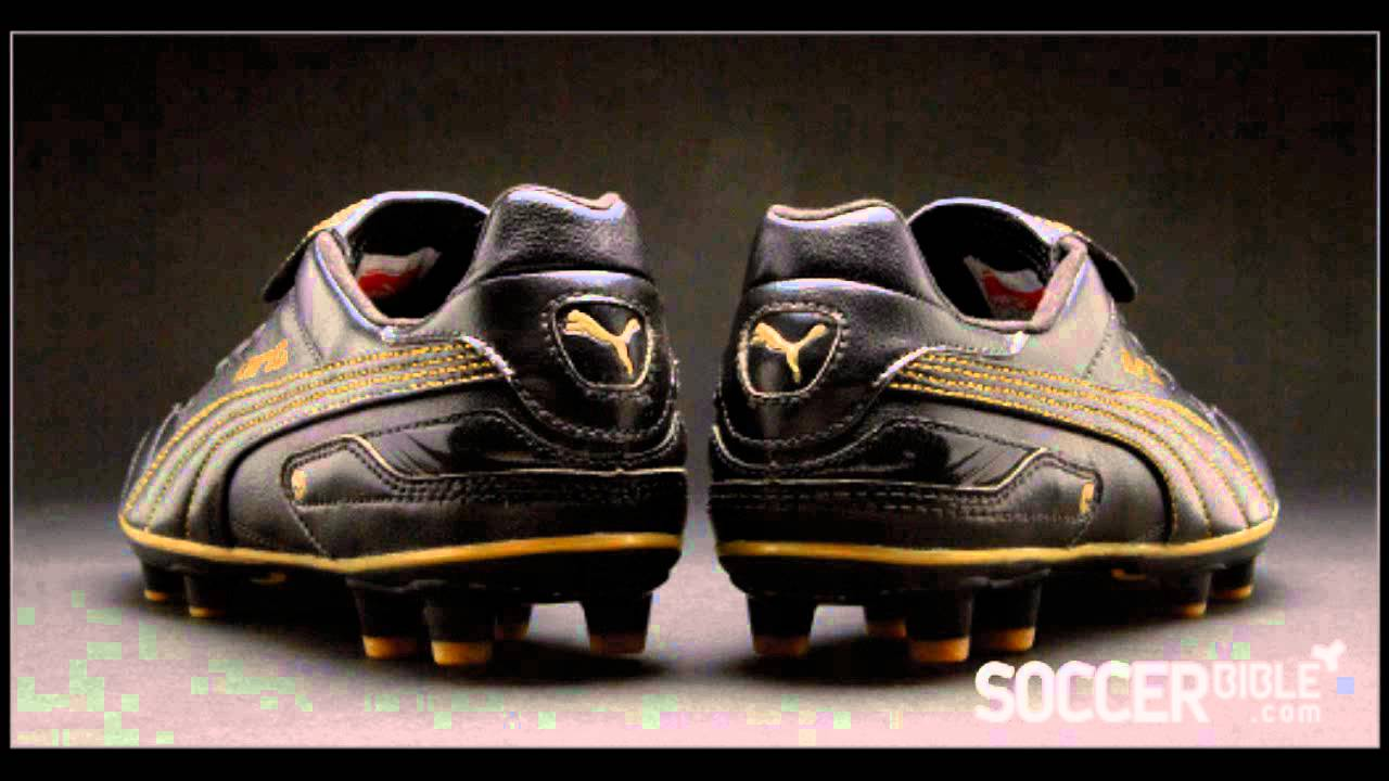 desagradable explosión Jirafa  PUMA King Finale Black/Black/Gold - YouTube