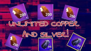 HOW TO GET *UNLIMITED* COPPER AND SILVER IN FORTNITE!