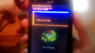 master reset or unlock android (acer liquide e2)