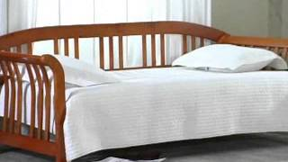 Dorchester Daybed Brown Cherry - Product Review Video