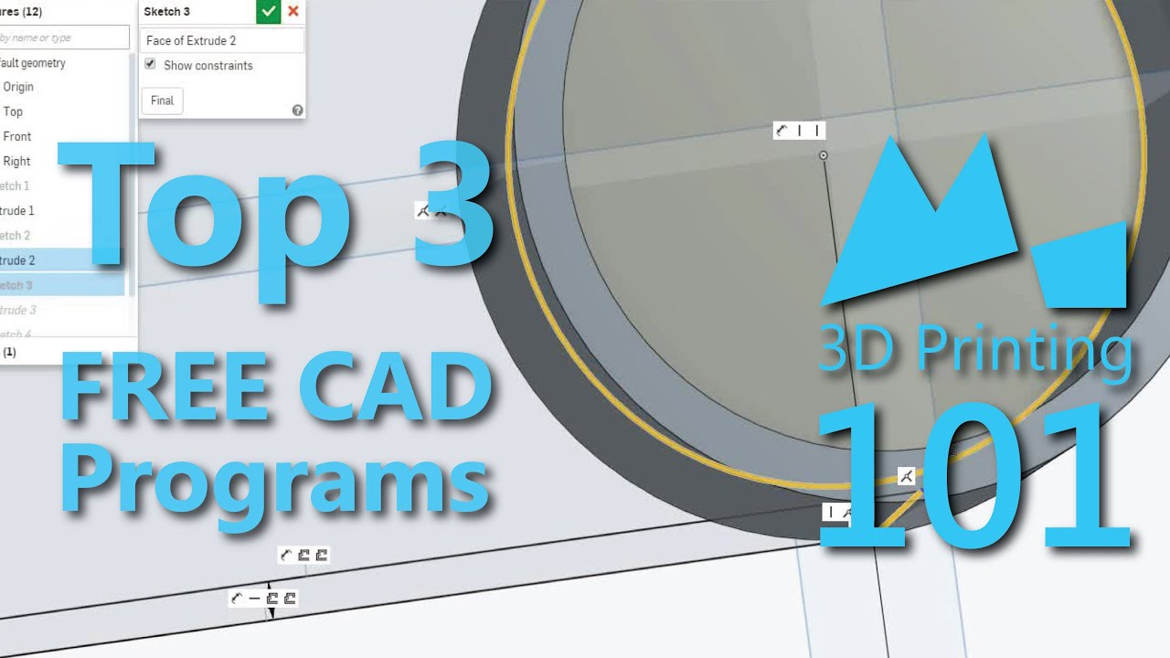 Best Free Cad Programs For 3d Printing 2015 Youtube
