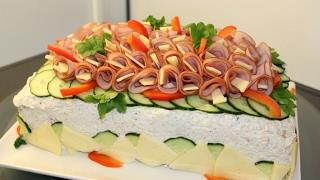 Скандинавский мясной торт