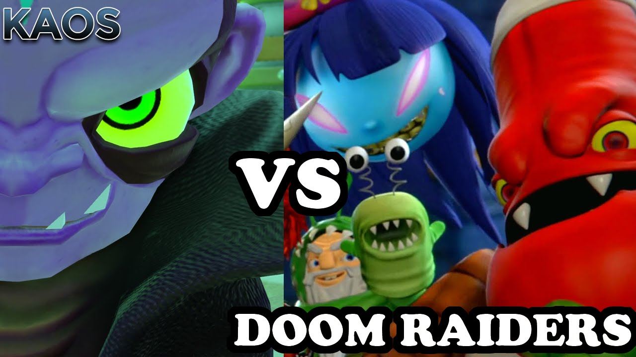 Skylanders Trap Team - Kaos VS All Doom Raiders - YouTube