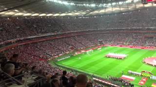 The national anthem of Poland / Poland-Germany 2:0 (11.10.2014) / Polska-Niemcy