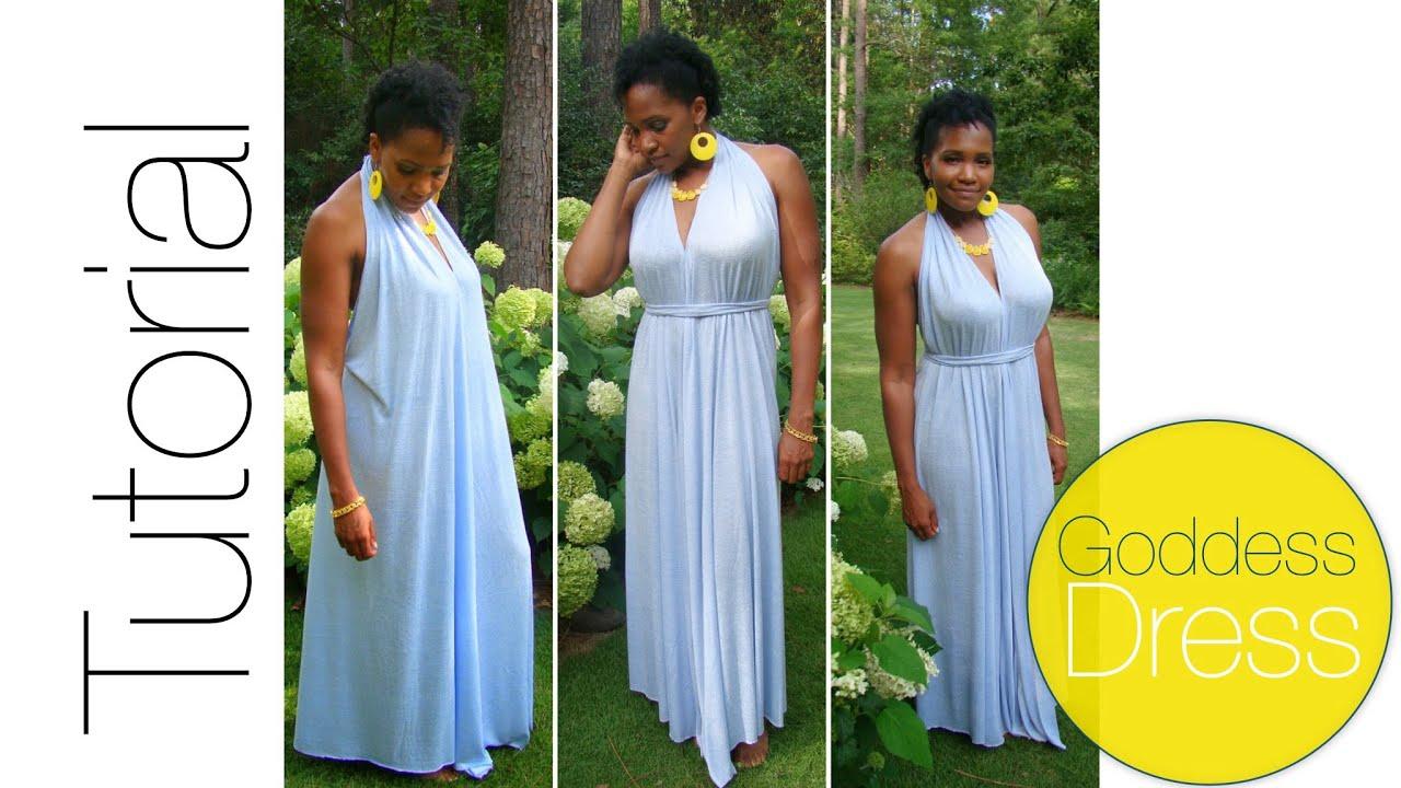 Diy Goddess Dress Tutorial Youtube