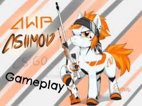 Cs 1 6 awp i asiimov black scope gameplay youtube - Awp asiimov cs 1 6 ...