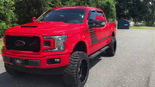 2018 Ford F-150 Lifted with new tow mirrors and overview of the build 22x12 axe wheels