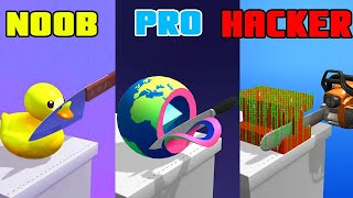 ASMR Slicing Noob Vs Pro Vs Hacker Gameplay
