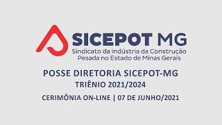 Cerimônia de posse e transmissão de cargo da Diretoria do SICEPOT-MG - Gestão 2021-2024