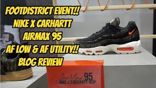 NIKE X CARHARTT FOOTDISTRICT EVENT! BLOG & REVIEW