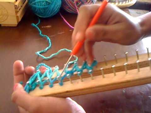 Mi video como hacer una bufanda en telar youtube for Como se hace una pileta de material