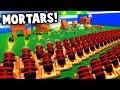 ARTILLERY STRIKE!  NEW Mortar Units (Wooden Battles Gameplay)
