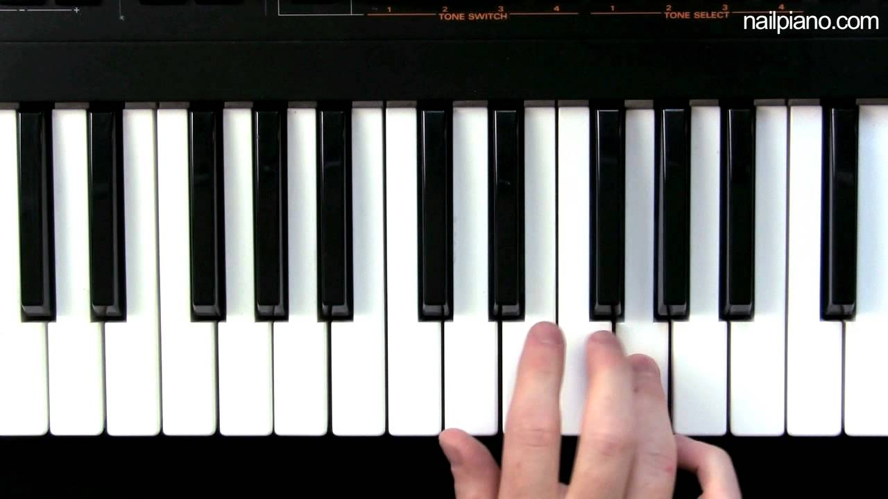 how to play g scale on piano