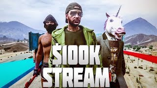 GTA 5 Online Stream - EASY $100K PLAYLIST! 30 Piece Playlist Easy Money! GTA V Funny Moments!