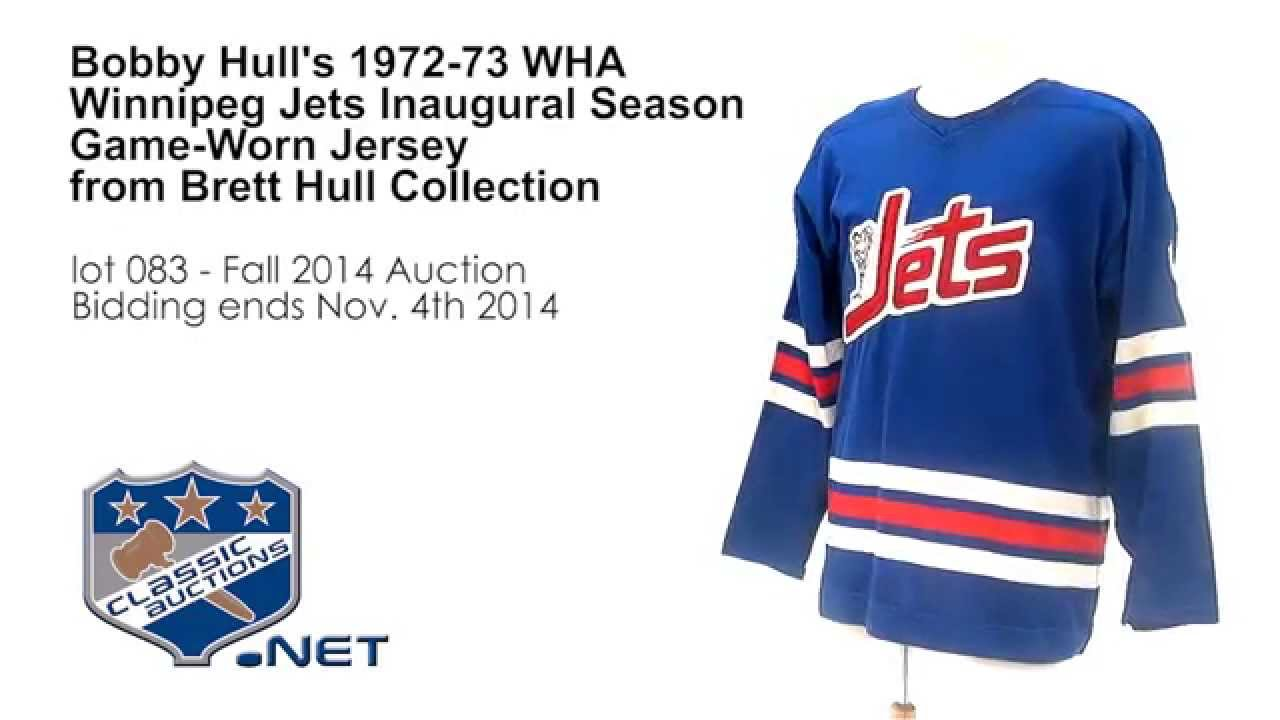 best service 53e47 d2766 Bobby Hull's 1972-73 WHA Winnipeg Jets Inaugural Season Game-Worn Jersey  from Brett Hull Collection