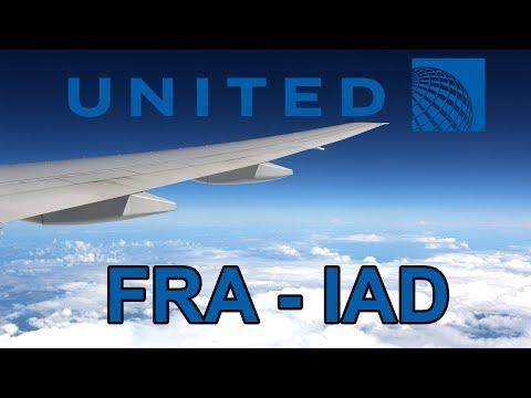 United Airlines B777 flight Frankfurt - Washington trip report