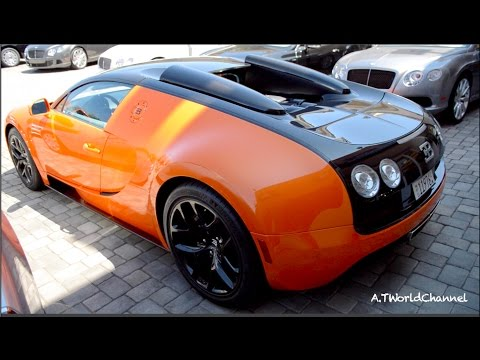 ORANGE Bugatti Veyron Grand Sport Vitesse in Beverly Hills!