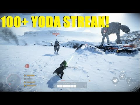 Star Wars Battlefront 2 - HUGE 100+ Yoda killstreak! Didn't even make it to phase 3! thumbnail
