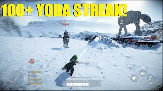 Star Wars Battlefront 2 - HUGE 100+ Yoda killstreak! Didn't even make it to phase 3!