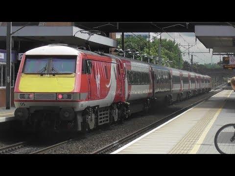 Trains at Stevenage, ECML 24/6/17