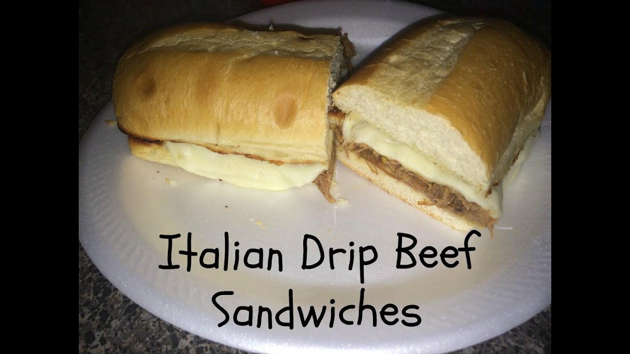 Italian Drip Beef Sandwiches from Leftover Mississippi Roast - YouTube