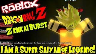 ¡SOY UN SUPER SAIYAN DE LEGENDS! Roblox: Dragon Ball Z Zenkai Burst
