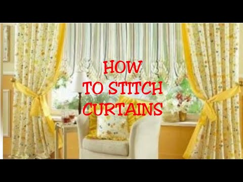 HOW TO STITCH CURTAIN/PARDA/CUTTING AND STITCHING //
