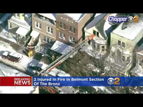 Breaking News : 2 Injured In Fire In Belmont Section Of The Bronx