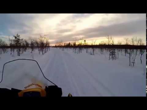 Snowmobile Finnland Levi 2015
