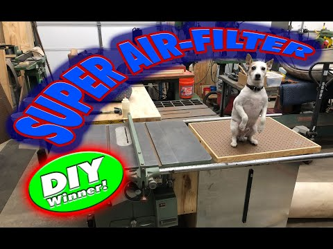 DIY Sawdust Collector and Air-Filtration System for a table saw and sanding table - 015