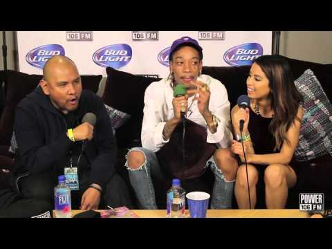 Wiz Khalifa talks about his new face tattoo on the Cruz Show at Cali Christmas!