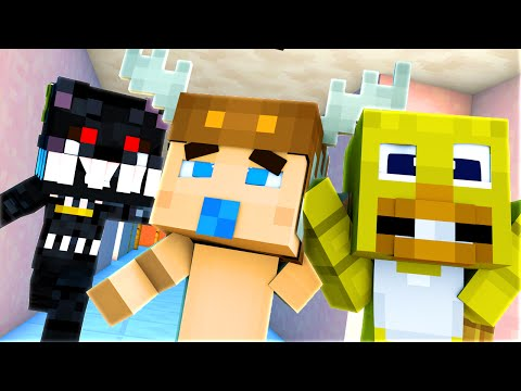 Minecraft School : FIVE NIGHTS AT FREDDY'S - BABY NIGHTMARE IS BACK?! Night 12