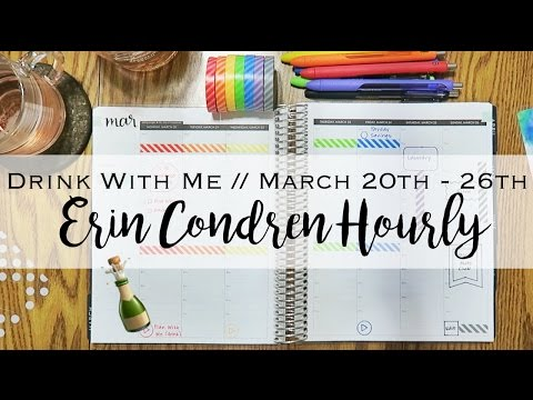 Drink With Me | March 20th - 26th | Erin Condren Hourly