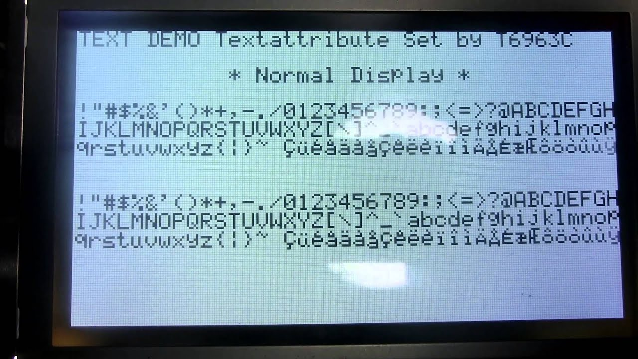 T6963C LCD drived by GPIO expander MCP23S17