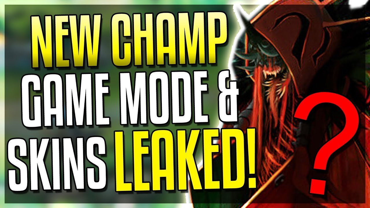 NEW CHAMPION, GAME MODE & SKINS LEAKED   AGAIN?! League of Legends