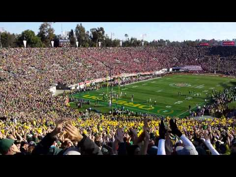101st Rose Bowl - Oregon Ducks Score Their First Touchdown! [HD]