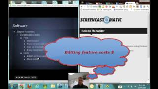 What do I use to Screencast Math Lessons