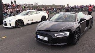 Audi R8 V10 Spyder vs Nissan GTR R35 vs Mercedes-AMG GT S