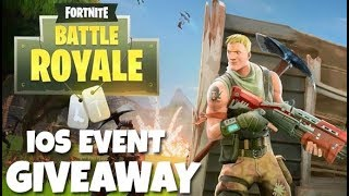 FORTNITE Mobile - iOS EVENT GIVEAWAY (1st Look Fortnite Battle Royale iOS Gameplay)