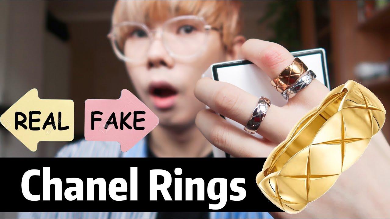 Fake VS Real - Chanel Coco Crush Ring  Review / Aliexpress Replica VS Original Jewelry Haul Unboxing