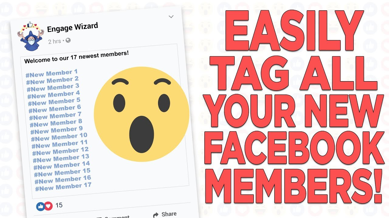 Easily Tag and Welcome New Facebook Group Members